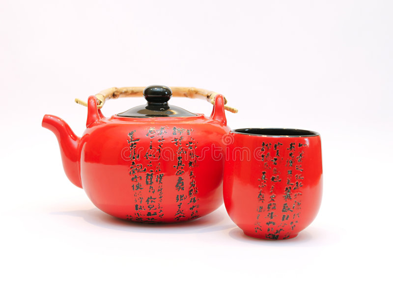 Chinese Teapot With Cup Royalty Free Stock Photos