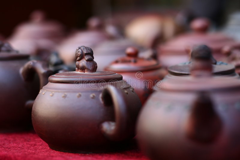 Chinese Teapots stock images