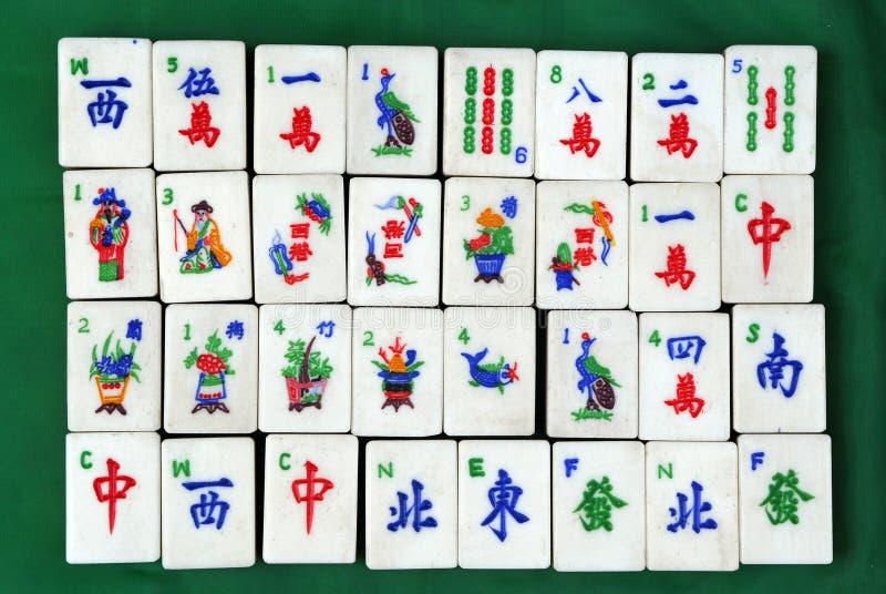 Chinese tegels Mahjong royalty-vrije stock afbeeldingen