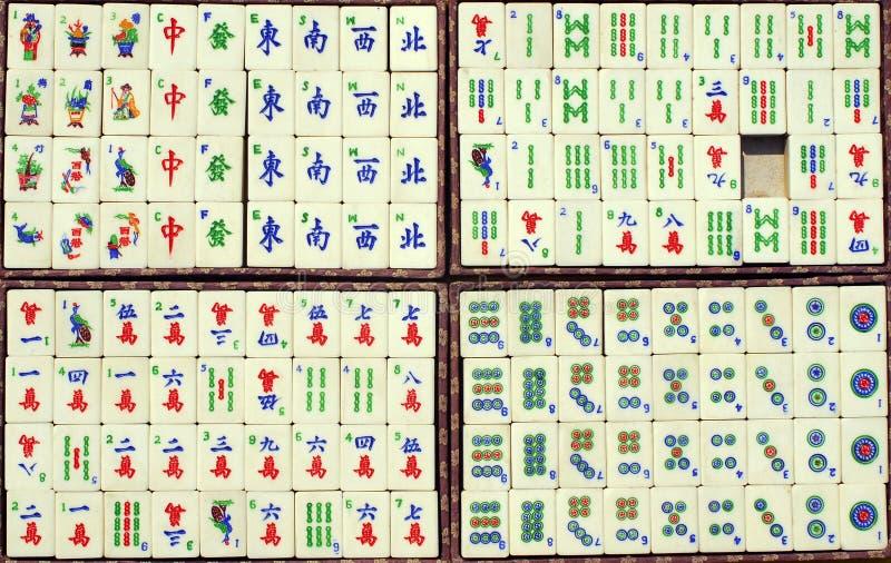 Chinese tegels Mahjong stock fotografie