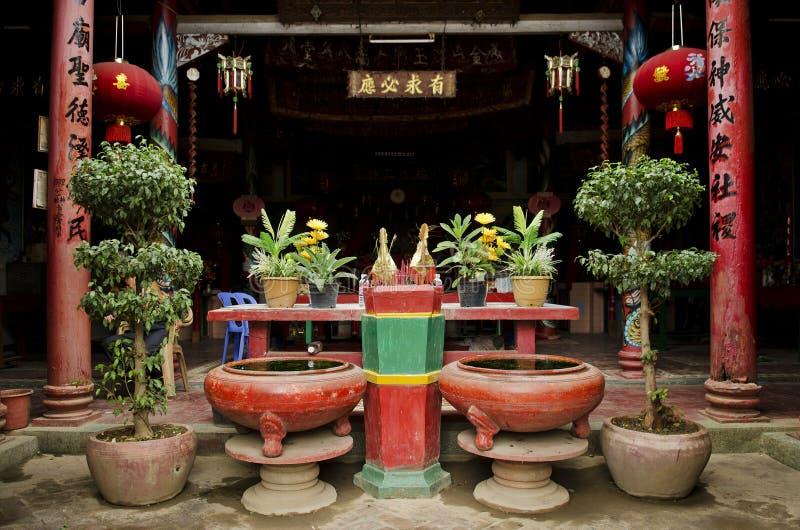 Chinese tempel in battambang Kambodja stock foto's