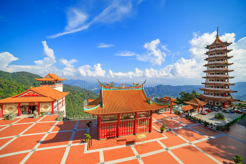 Chinese tempel in Genting-hoogland royalty-vrije stock foto's