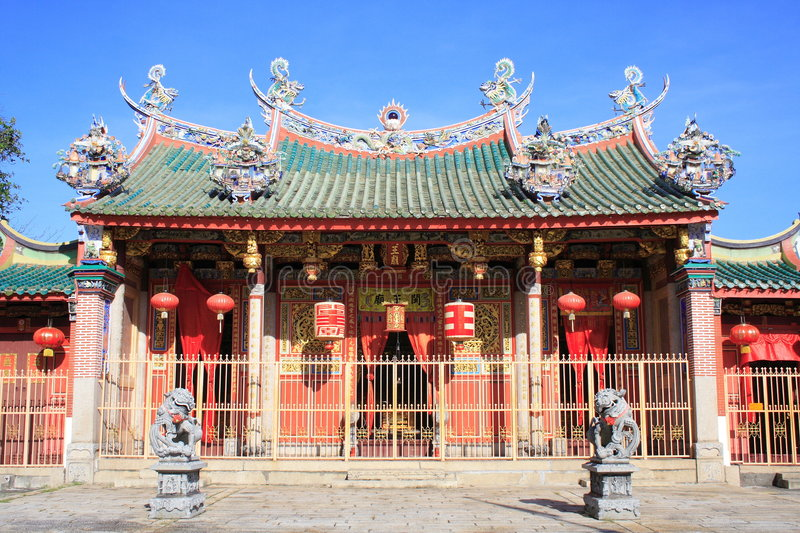 Chinese Tempel in Georgetown stock foto's