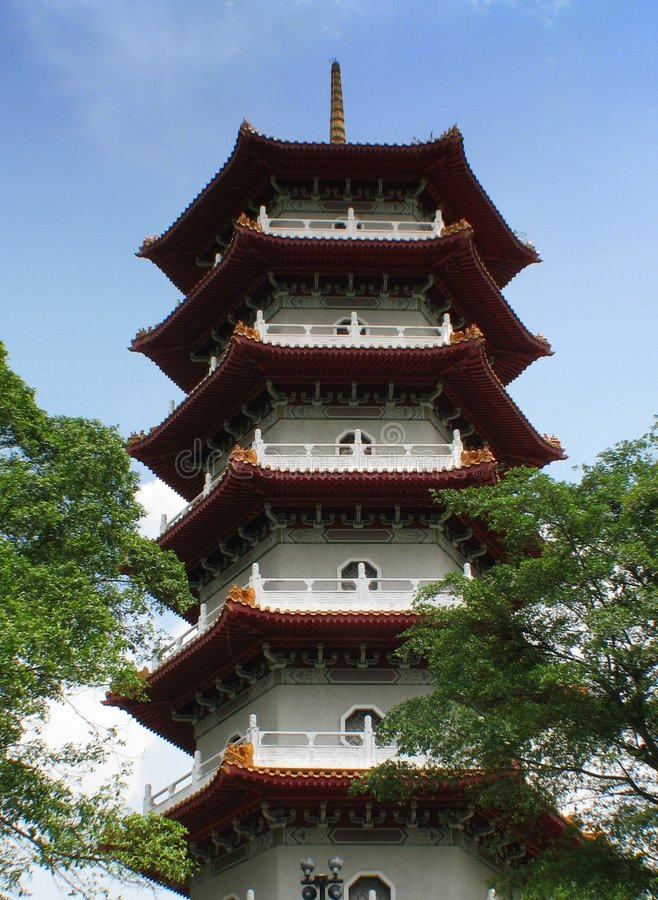 Chinese tempel, Singapore stock afbeelding