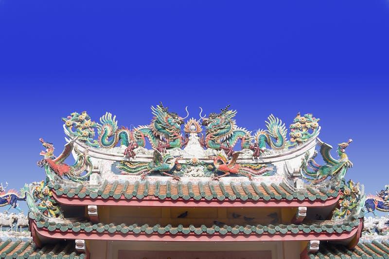 Chinese tempeldeur stock afbeelding