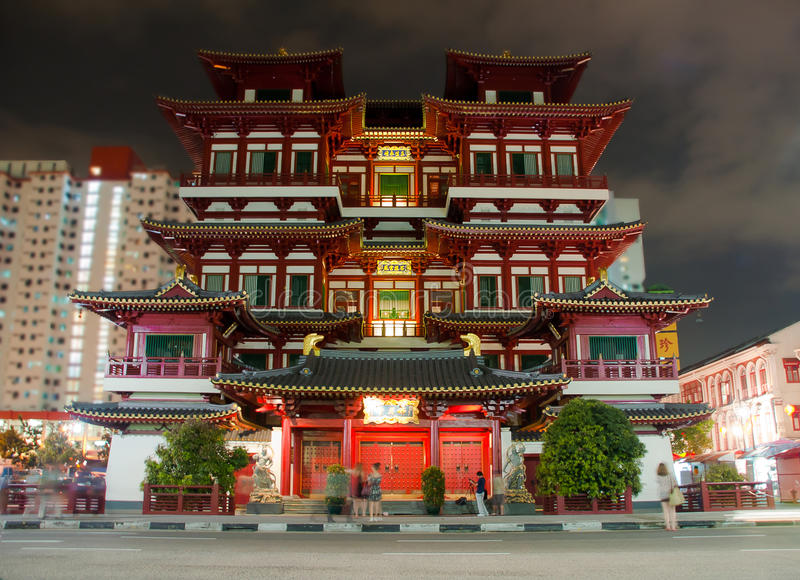 Chinese temple. Beautiful chinese temple in Singapore royalty free stock photos