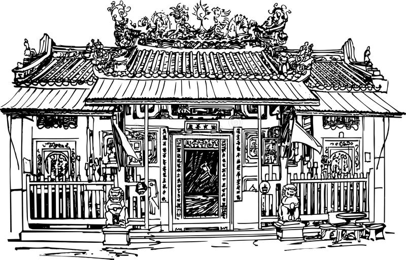 Chinese temple royalty free illustration