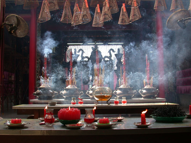 Download Chinese temple stock photo. Image of religious, burning - 37536