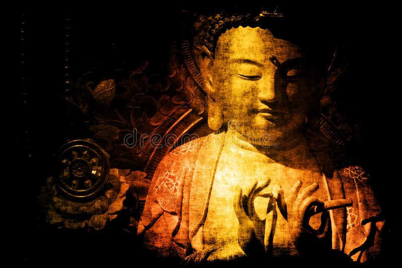 Chinese Temple Abstract Background Wallpaper. In Color Tones royalty free illustration