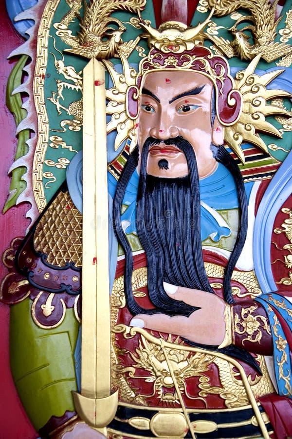 Chinese Temple Deity Stock Photo