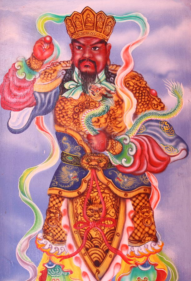 Chinese temple figure. In a temple in Tanjung Balai Karimun, Indonesia royalty free stock images
