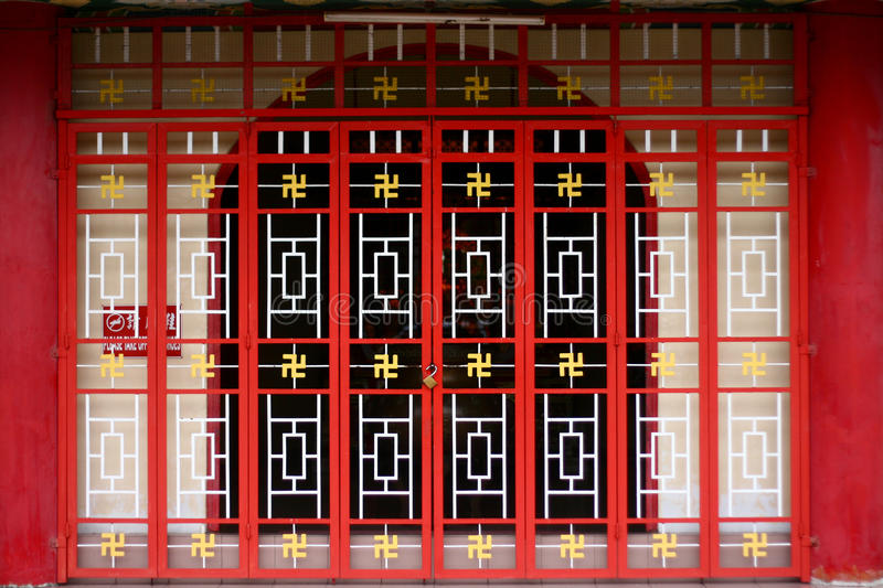 Chinese temple gate royalty free stock photography