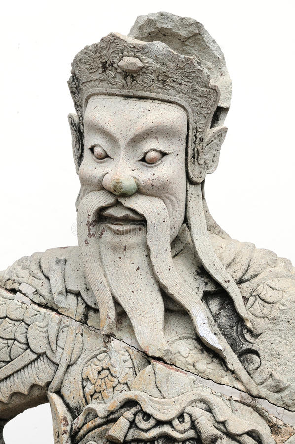 Chinese temple God royalty free stock photo