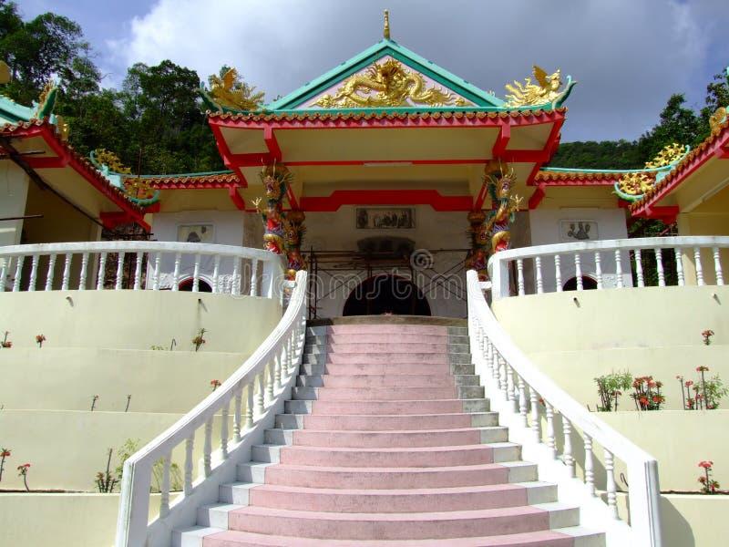 Chinese temple, Koh Phangan, Thailand. royalty free stock images
