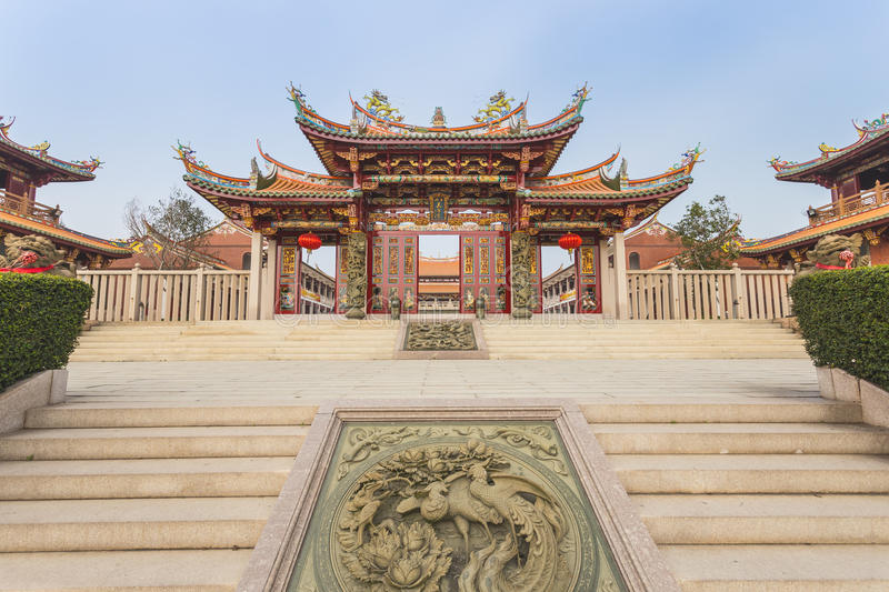 Chinese Temple in Macau royalty free stock photo