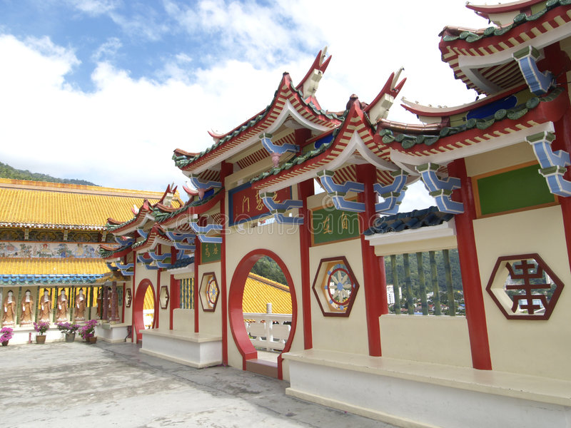 Chinese temple in Malaysia royalty free stock photo