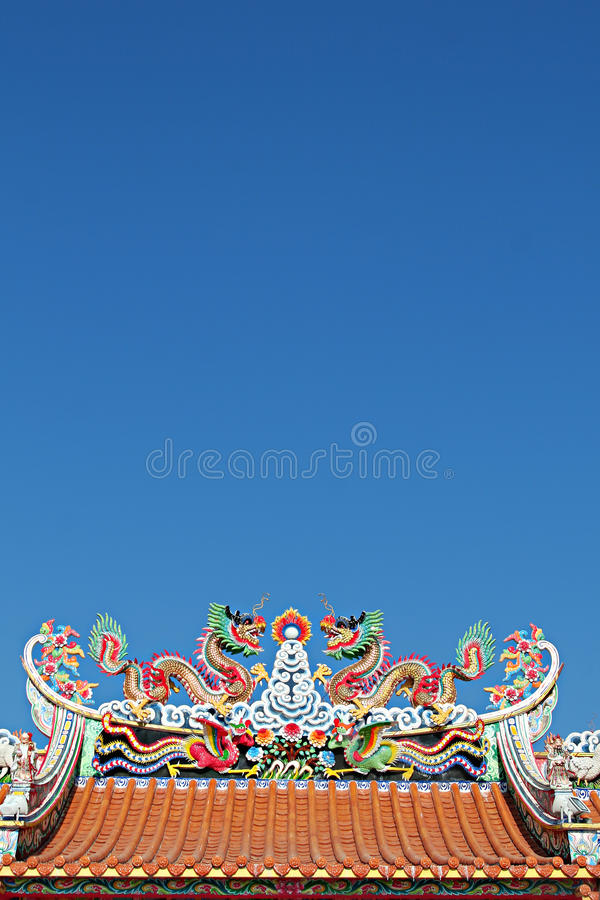 Free Chinese Temple Roof Stock Photography - 17276332
