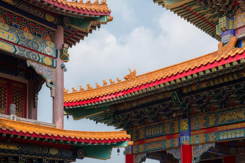 Chinese temple roof. Architecture detail royalty free stock photography