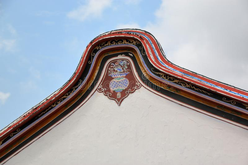 Chinese temple roof design stock image
