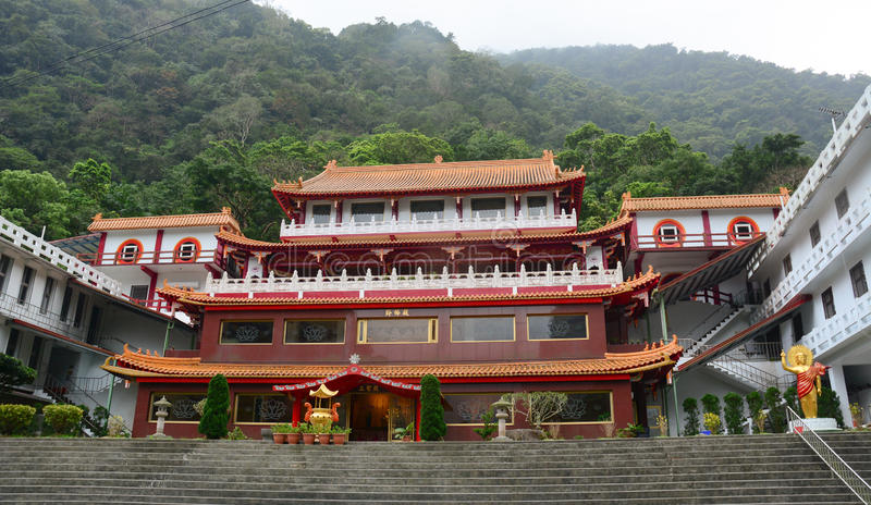 Chinese temple at Taroko National Park, Hualien, Taiwan stock images