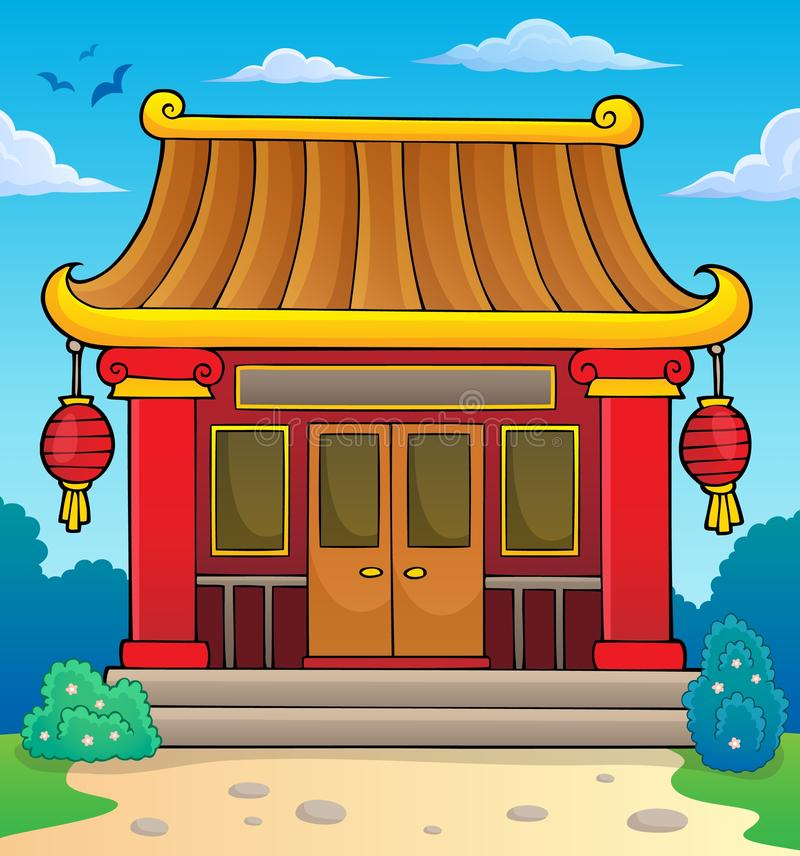 Chinese temple theme image 2. Eps10 vector illustration vector illustration