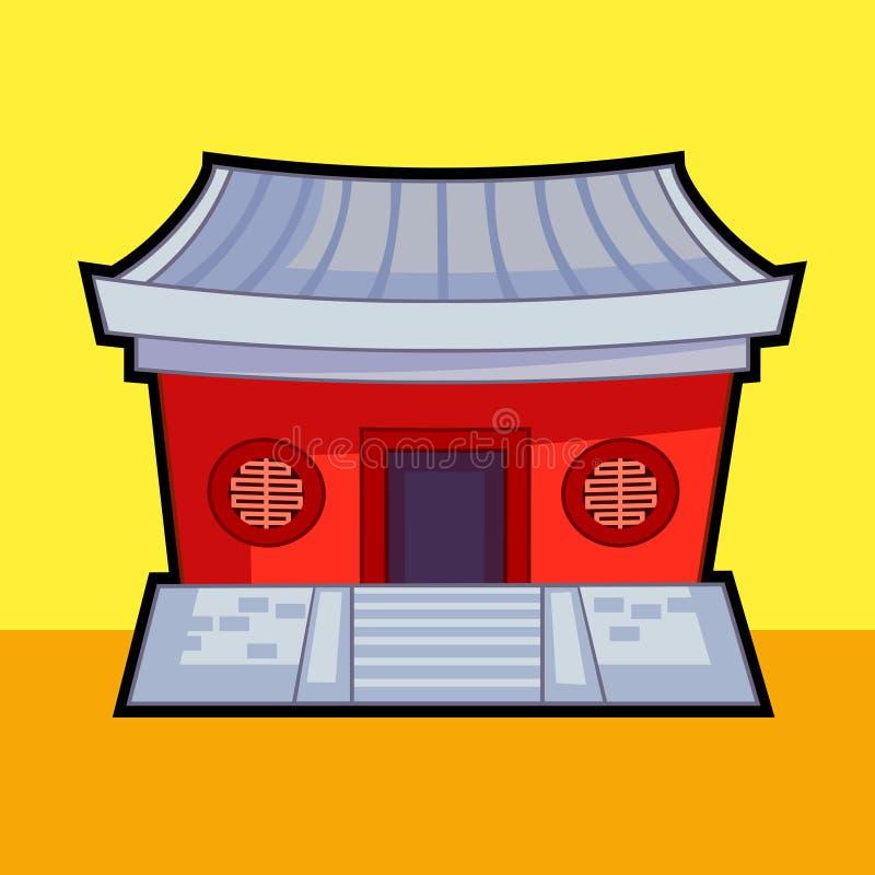 Chinese temple vector. EPS Illustrator stock illustration