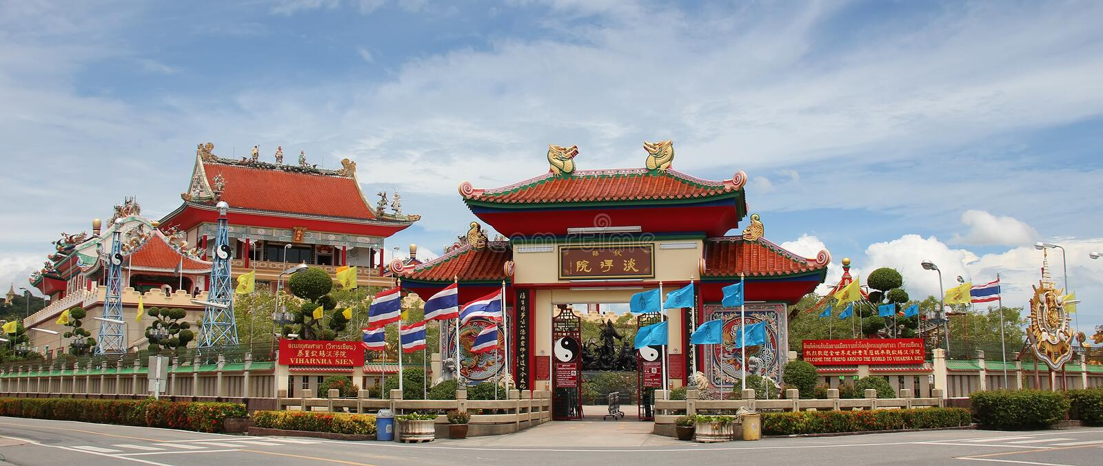 Chinese Temple Viharnra Sien in Pattaya outside stock photos