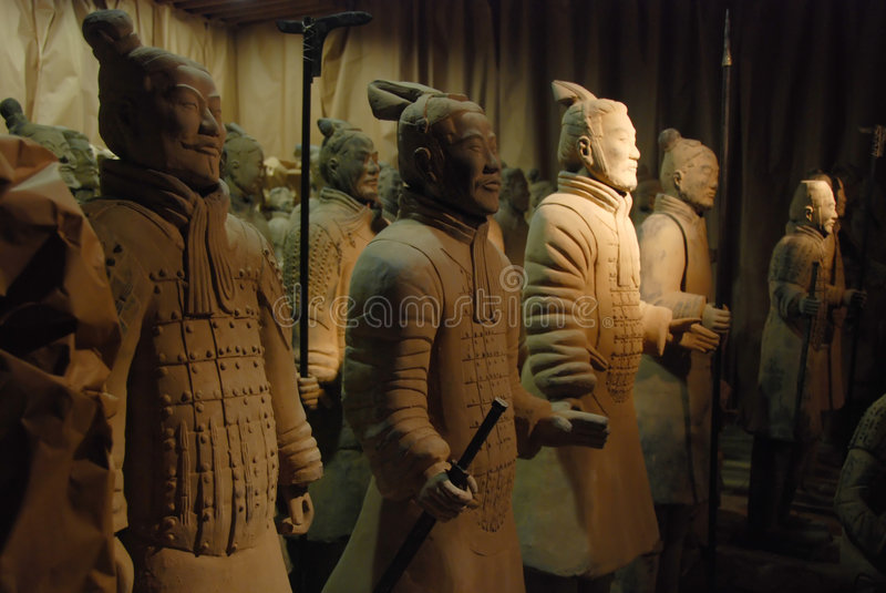 Chinese terracotta warriors. Famous Chinese terracotta warriors from Xi'an excavations royalty free stock photography