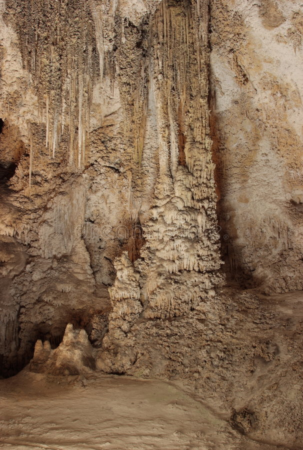 Chinese Theater. In the Big Room Tour - Carlsbad Caverns National Park stock photo