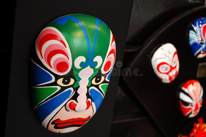 Chinese theatrical makeup stock photo