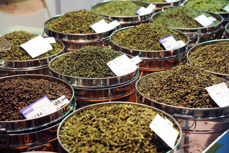 Chinese thee in marktplaats stock foto