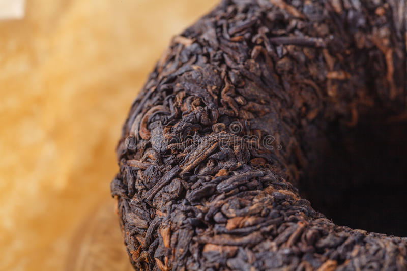 Chinese thee Puer, close-up stock foto's