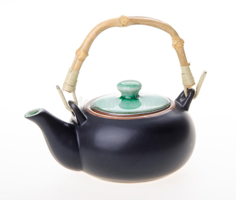 Chinese theepot theepot op achtergrond royalty-vrije stock foto