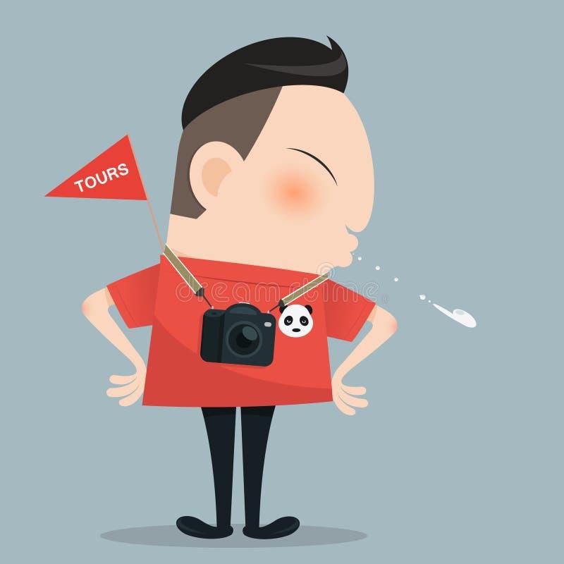 Chinese tours. Cartoon stock illustration