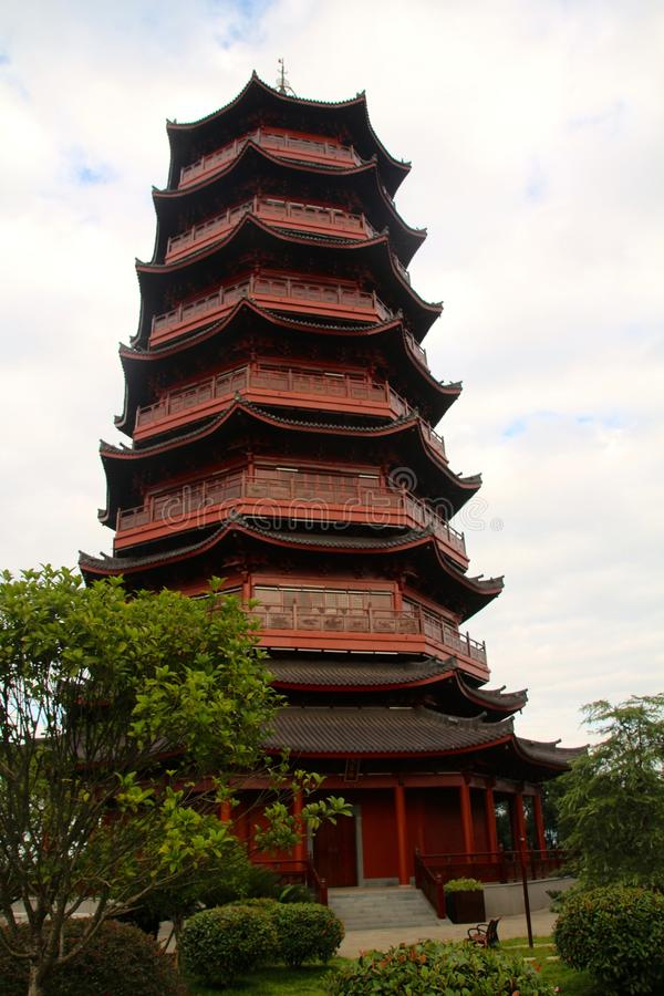 A Chinese tower royalty free stock photos
