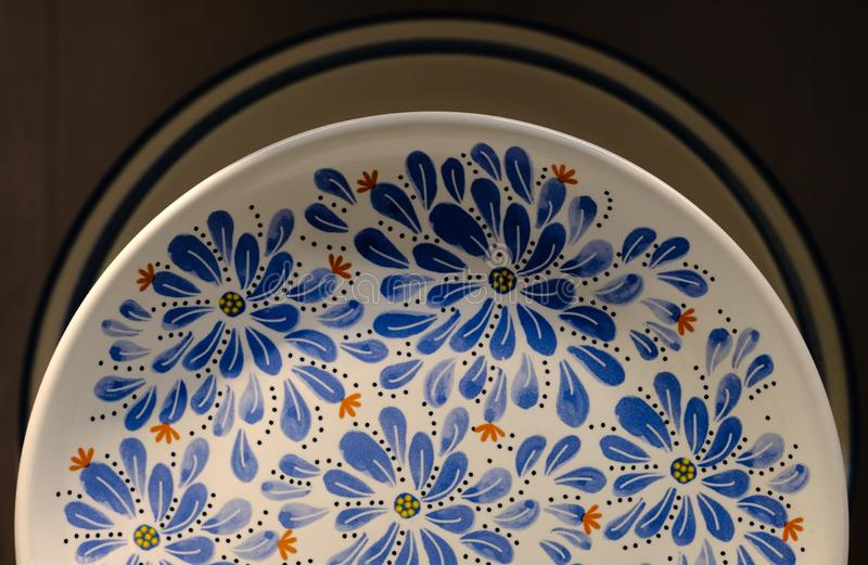 Chinese Traditional Blue And White Porcelain, the Flowers Texture background stock photos