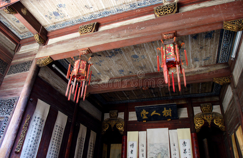 interior chinese traditional building royalty free stock photos