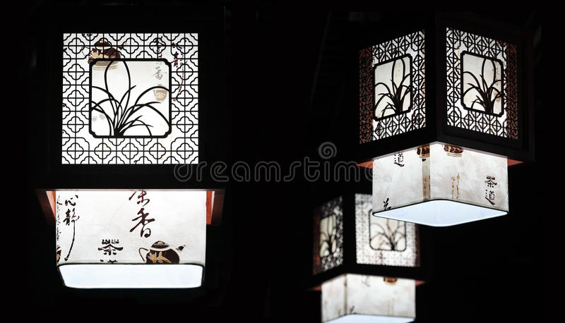 Chinese traditional Chandelier stock photo