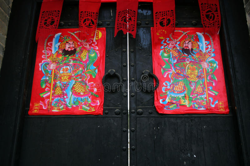 Chinese traditional door royalty free stock images