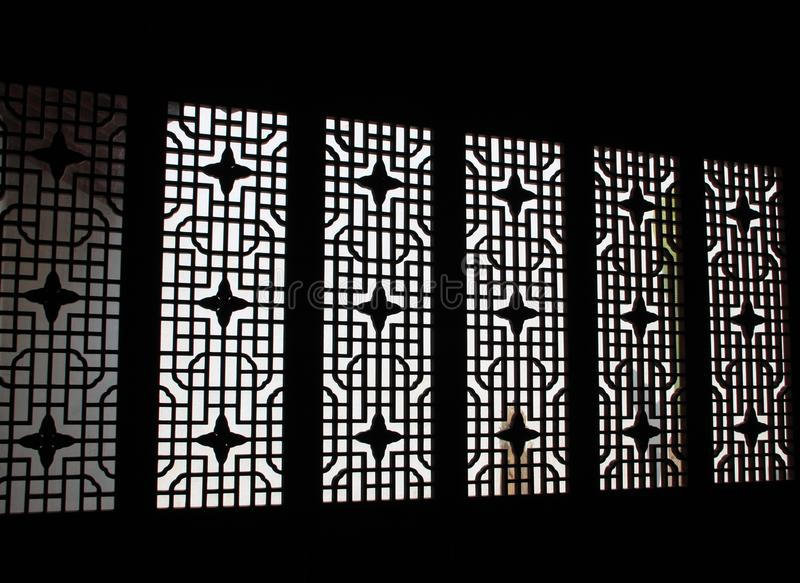 Chinese traditional door with pattern. Nanjing, China. Chinese traditional door with pattern. Travel in China royalty free stock photo