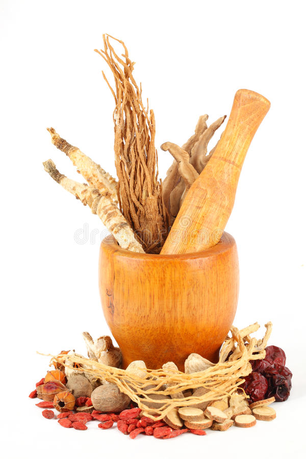 Free Chinese Traditional Herbal Medicine Stock Photography - 19598532