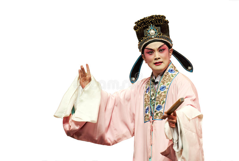 Chinese traditional opera actor. Performs on stage stock images