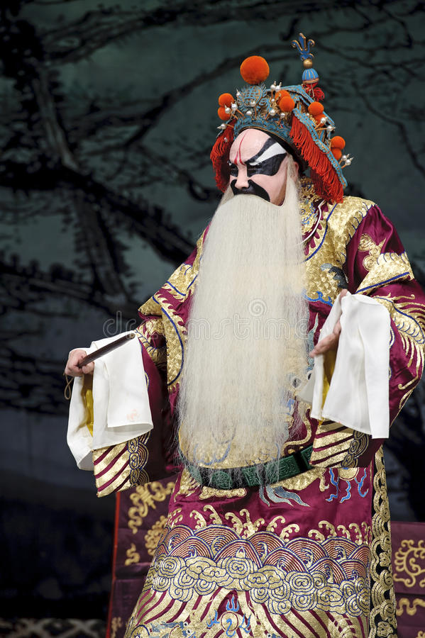 Chinese traditional opera actor. Performs on stage stock photo