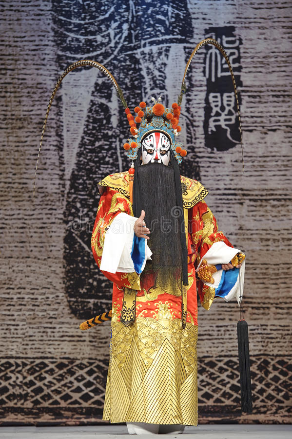 Chinese traditional opera actor. With theatrical costume royalty free stock image