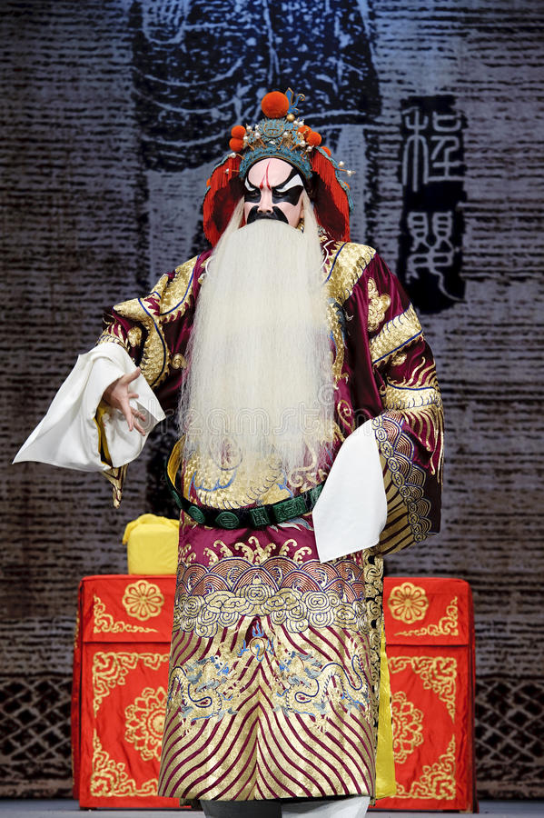 Chinese traditional opera actor with theatrical costume. Chinese traditional opera actor performs on stage stock images