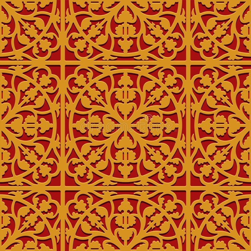 Chinese traditional oriental ornament background, classic clouds vector pattern. Image royalty free illustration