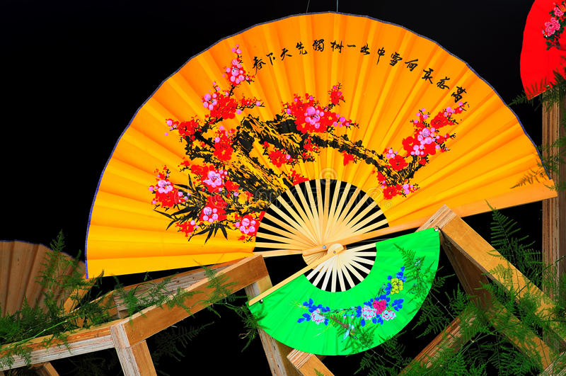Chinese paper Fans royalty free stock photography