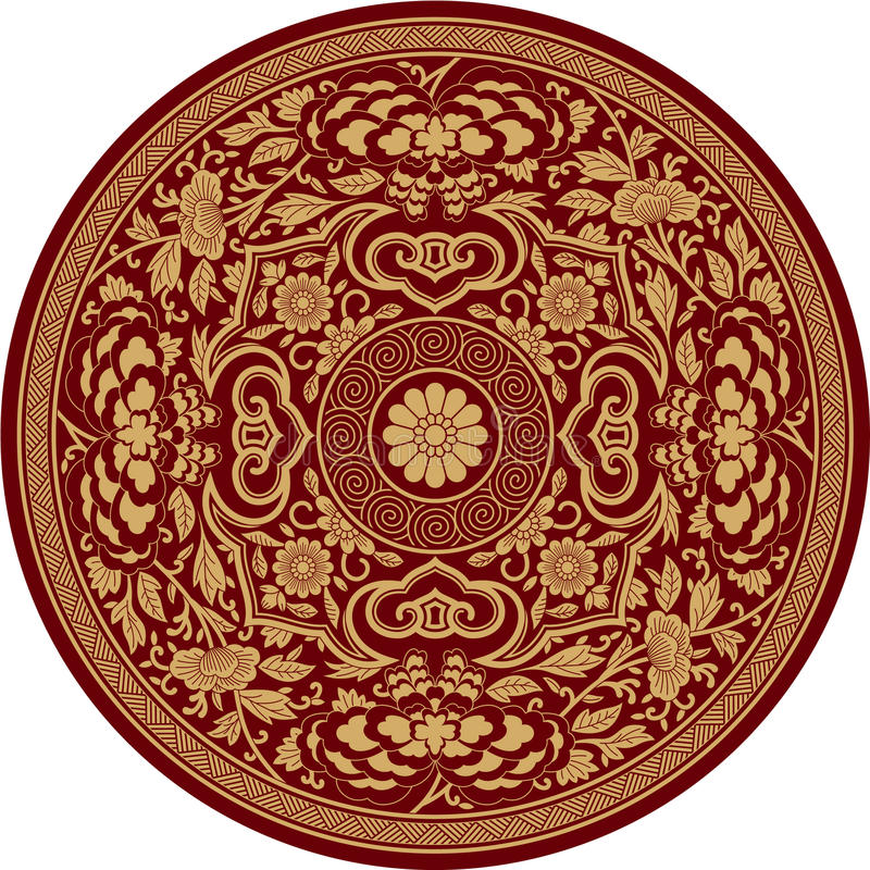 Chinese Traditional Pattern Rosette royalty free illustration
