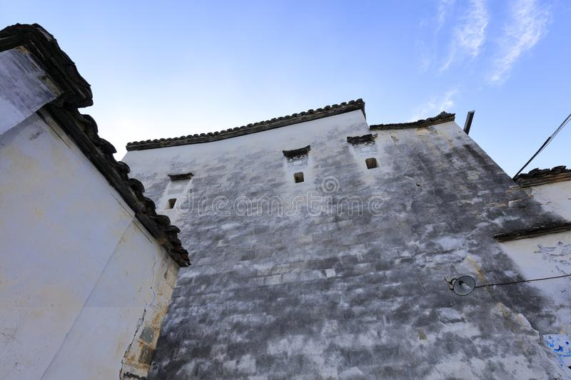 The Chinese traditional special white building of anhui style, adobe rgb stock photo