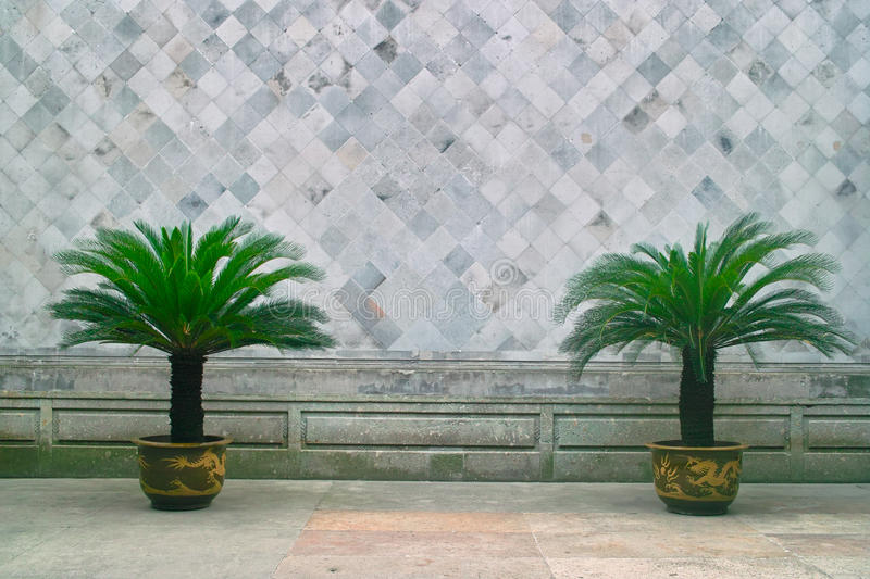 Chinese traditional style brick wall stock photos